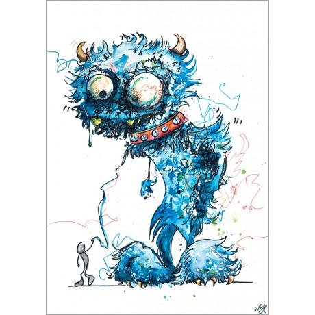 Blaues Monster